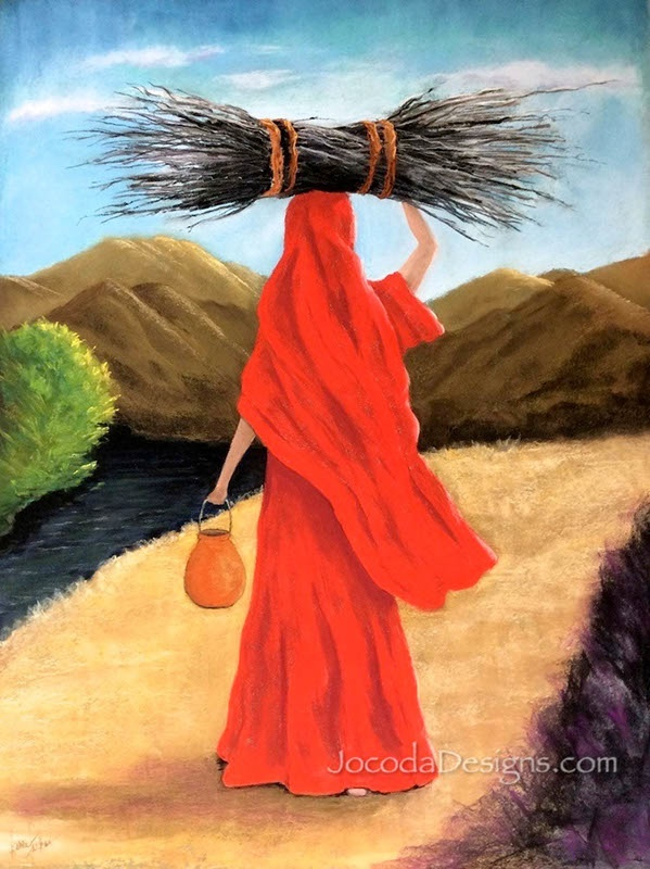 Pastel-9-The-Woman-in-Red-18X24